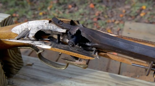 Traditional Muzzle Loader - Loading a muzzle loading shotgun